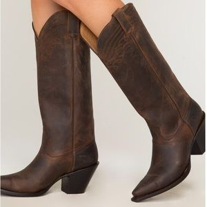 """Shyanne Women's 15"""" Brown Cowgirl Boots - Snip Toe"""